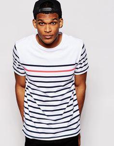 Imagen 1 de Camiseta de rayas bretonas con cuello redondo de River Island