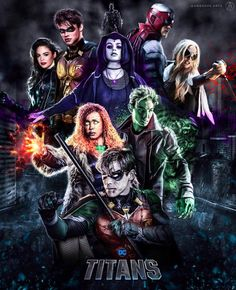 Assembled focus of all the collection of Tv Series Jackets inspiration that inflicts the positive energies with your favorite characters. Teen Titans Go, Teen Titans Fanart, Teen Titans Raven, Beast Boy, Dc Universe, Live Action, Marvel Dc, Avengers Comics, Titans Tv Series