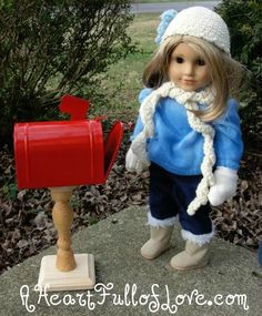American Girl Doll Mailbox - Tutorial - A Heart Full of Love