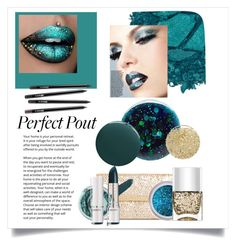 """""""So Sparkly: Turquoise Glitter Lips"""" by kendallbynature ❤ liked on Polyvore featuring beauty, Urban Decay, Deborah Lippmann, Lancôme, Ashley Stewart and Nails Inc."""