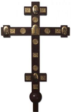 Sanctuary Cross.  $370.00. #CatalogOfGoodDeeds #cross #handmadecrosses #forgedcross #steelcross #handmadeitems #blacksmithworkshop #forgeditems #woodencross #carvedcross #buycross #ordercross #orthodoxcross #churchgoods #churchitems #vigillamp #sanctuaryitems