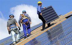 solar panels, house
