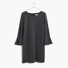 Madewell Knit Bell-Sleeve Dress In Stripe