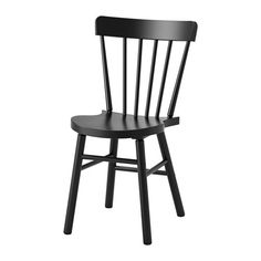 IKEA - NORRARYD, Stol, Du kan enkelt finne din favorittsittestilling takket være stolens sjenerøse design.Du sitter behagelig takket være stolens formede rygg og sete.Den klarlakkerte overflate er enkel å rengjøre.Stolens stamme er laget av massivt tre, et slitesterkt naturmateriale.