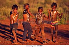 Young Anangu boys painted with totemic designs, South Australia - Stock Image Aboriginal Children, South Australia, Images, Wonder Woman, Stock Photos, Superhero, Boys, Fictional Characters, Collection