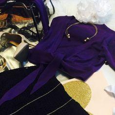 Purple Cute Wrap Cardigan  Purple Cute Wrap Top Tops