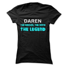 DAREN - The Woman The Myth The Legend - #tshirt #gray sweater. LIMITED AVAILABILITY => https://www.sunfrog.com/Names/DAREN--The-Woman-The-Myth-The-Legend-Ladies.html?68278