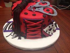 burlesque style bachelorette cake