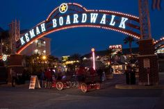 The Kemah boardwalk is essentially an amusement park featuring some great rides, such as TheBoardwalk Bullet,a 96' wooden roller coaster....
