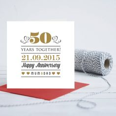 Greeting Card Appealing Personalised Th Wedding Anniversary Card