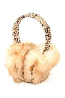 Marks /& Spencer Animal Print Faux Ear Muffs One Size BRAND NEW