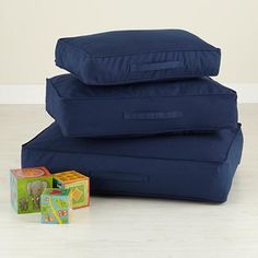 Kids' Floor Cushions: Kids Cotton Canvas Floor Cushions in Soft Seating Reception Seating Chart, Cafe Seating, Corner Seating, Floor Seating, Kids Floor Cushions, Couch Cushions, Floor Pillows, Couches, Playroom Decor
