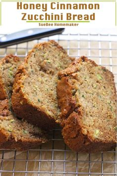 Honey Cinnamon Zucchini Bread is unbelievably moist thanks to shredded zucchini and olive oil. The taste is out of this world with the addition of honey and cinnamon, and this easy bread reminds me of fall! Parmesan Zucchini Chips, Cinnamon Zucchini Bread, Zucchini Bread Muffins, Easy Zucchini Bread, Zucchini Bread Recipes, Easy Bread, Autumn Bread Recipes, Olive Oil Zucchini Bread, Shredded Zucchini Recipes