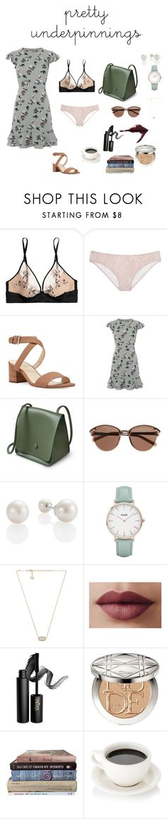 """""""pretty underpinning"""" by alexandrageli ❤ liked on Polyvore featuring Calvin Klein Underwear, Victoria's Secret, Nine West, Oasis, Witchery, CLUSE, Kendra Scott, INIKA and Christian Dior"""