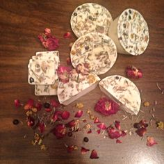 Oatmeal and rose soap