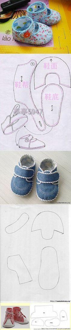 Petits chaussons à coudre