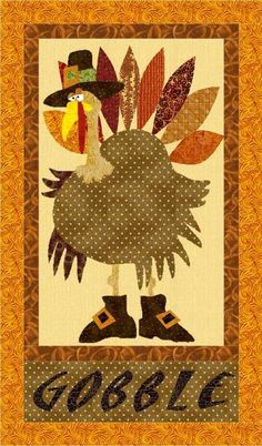 Gobbler The Turkey Wallhanging PatternFrom craftsy.com too cute