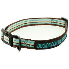Embroidered Striped Personalized Dog Collars - $29 at dogIDs.com!