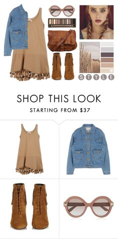 """"""""""" by geoxique ❤ liked on Polyvore featuring N°21, Yves Saint Laurent, Valentino, Urban Decay, Spring, dress and sunglasses"""