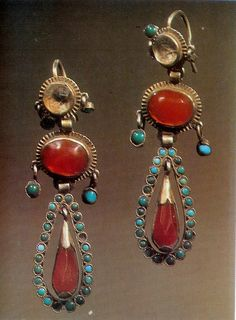silver with carnelian and turquoise , Tartar 19th c
