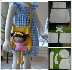 The home of My Teeny-Tiny Dolls® - Handmade Fashion Dolls Doll Sewing Patterns, Sewing Dolls, Doll Carrier, Operation Christmas Child, Tiny Dolls, Kids Bags, Felt Toys, Stuffed Toys Patterns, Fabric Dolls