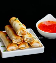 Baked Spring Rolls...Brought crispy, spicy, low-fat, savory Baked Spring Rolls. These are so delicious that you won't miss the deep-fried version - Healthy & easy-to-make too. A crowd-pleasing appetizer!