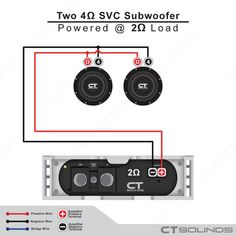 39 Best Subwoofer Wiring Diagram images  Ohm Svc Subwoofer Wiring Diagram on 2 ohm and a 4 ohm wiring digram, 2 ohm amp, 2 ohm to 4 ohm wiring, audio amplifier circuit diagram, ohm load diagram, series parallel speaker wiring diagram, 2 ohm to 1 ohm, 4 ohm to 2 ohm diagram, 4 ohm speaker wiring diagram, 2 ohm speaker wiring configurations, kicker speaker hook up diagram, 2 ohm woofer, dual voice coil subwoofer diagram, 2 ohm dual voice coil subwoofer wiring, 2 ohm dvc sub wiring, ohm sub woofer diagram,