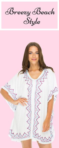Feel as light and carefree as a Balinese breeze in this slip-over beach tunic. It combines style and ease in one timeless summer essential.
