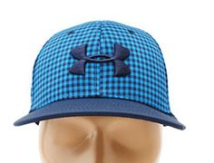 Under Armour Plaid Low Crown Fitted Baseball Cap by UNDER ARMOUR
