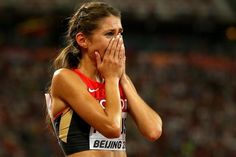 How One Decision 7 years ago led to Krause's World Championships Medal. Gesa Felicitas Krause after taking bronze in the heptathlon at the IAAF World Championships, Beijing 2015 (Getty Images) Team Toyota, Heptathlon, World Athletics, World Championship, Beijing, Athlete, Bronze, Led, Running
