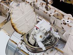 Expedition 24 astronaut Douglas Wheelock exits the Quest airlock at the beginning of a spacewalk Aug. 11, 2010 to replace a failed ammonia pump on the International Space Station's S1 truss. Credit: NASA