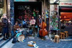 Jazz band playing in Center Place, city centre. Melbourne - Sophisticated and slick, edgy and rough