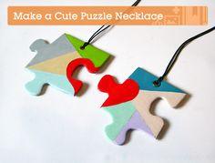 puzzle piece necklace - craft tuts plus