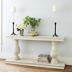 entryway:  like the table but with square posts from our land