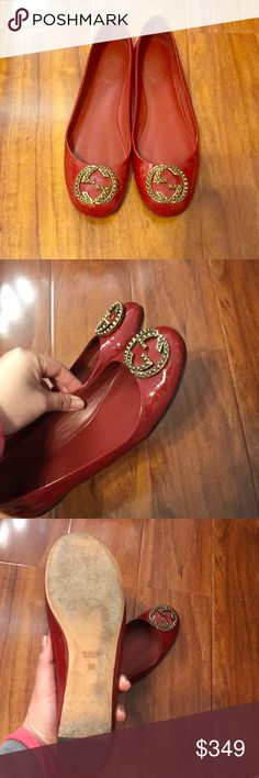 Gucci Flats Beautiful dark red Gucci flats, gently worn, size 7.5/8 Gucci Shoes Flats & Loafers