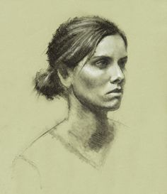 Charcoal portrait by Lis Andersen, Hein Academy of Art, SLC, UT