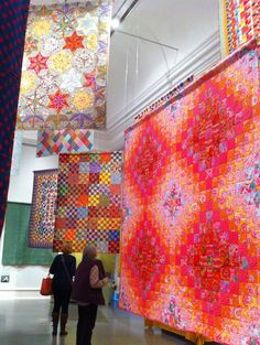 Kaffe Fassett quilt exhibit at the Welsh Quilt Centre, June 2013, photo by Claire Leggett