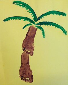 Palm tree crafts for kids hand prints ideas Daycare Crafts, Classroom Crafts, Baby Crafts, Preschool Crafts, Classroom Ideas, Hawaiian Crafts, Hawaiian Art, Hawaiian Theme, Toddler Art
