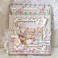 Easter card, Easter Greetings and Palette paper collection