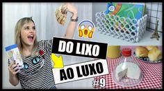 Hoje o vídeo tá bem legal - tem 3 ideias de DIYs, usando revistas velhas, caixa de leite e garrafa pet. * Assista outros vídeos Do LIXO ao LUXO: https://goo....