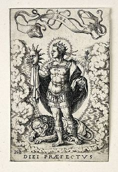 """Sol"" by Hans Sebald Beham from The Seven Planets"