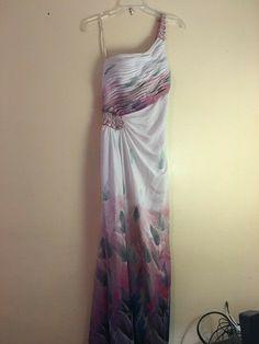297eda122d399 Ignite Evenings Formal Dress By Carol Lin Size 12 Floor Length One Shoulder   fashion