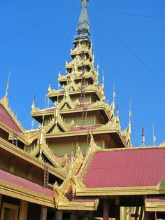 Beautiful Temples in Myanmar (Burma) CC by K. Burma Myanmar, Religious Architecture, Yangon, Place Of Worship, Courtyards, Cathedrals, Tibet, Southeast Asia, Trip Planning