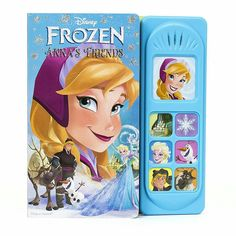 Join Princess Anna on a Look and Find adventure. She'll travel through wintry wonderlands with Kristoff, a fearless mountain man, and Sven, his trusty reindeer. They'll meet with magical snowmen and mystical powers as they search for the Snow Queen and try to put things right.  Little Sound Books features five spreads of full-bleed art and a module with seven sound buttons.�� . . Spesifikasi: Untuk usia 1-6 tahun Hardcover, 21.0 x 20.1 x1.8 cm  Halaman isi: 12 halaman  Harga normal Rp…
