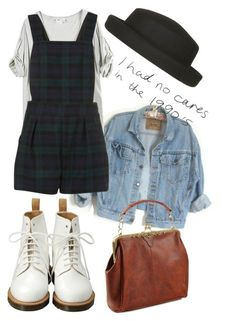 """90"" by avecwanderlust ❤ liked on Polyvore featuring Dr. Martens"