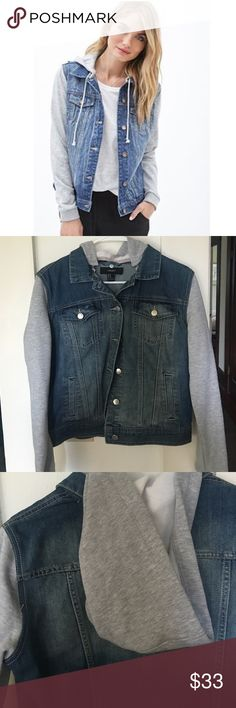 Jean jacket New with tags got as a gift but it's too small on me.  No trades or modeling please! (Not exact jacket from cover photo but similar!) Forever 21 Jackets & Coats Jean Jackets