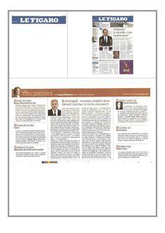 Aujourd'hui le journal Le Figaro (page 28) dresse un nouveau portrait de Gérard Lhéritier, patron de la société Aristophil  www.aristophil.com