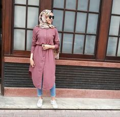 Hijab Fashion Summer, Modern Hijab Fashion, Muslim Women Fashion, Frock Fashion, Fashion Outfits, Casual Day Outfits, Casual Hijab Outfit, Hijab Chic, Modest Outfits