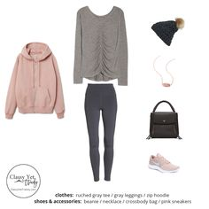 The Athleisure Capsule Wardrobe: Winter Collection - Classy Yet Trendy - Women's style: Patterns of sustainability Capsule Wardrobe Winter, Warm Outfits, Sporty Outfits, Winter Outfits, Look Athleisure, Athleisure Outfits, Streetwear, Leather Leggings Outfit, Classy Yet Trendy