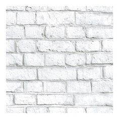 RoomMates White Faux Brick Peel & Stick Wallpaper
